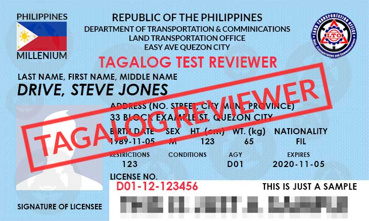 Lto Test Reviewer Tagalog Lto Exam Reviewer